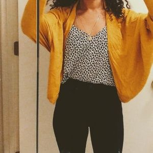 Yellow ann taylor cardigan. Great for fall!